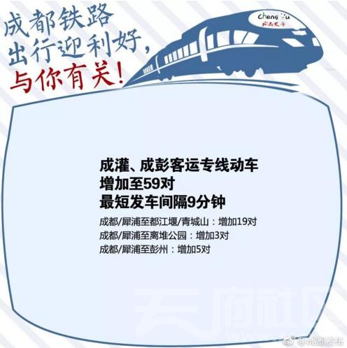 彭州开通成彭快铁彭州南站和步行街站!-彭米网