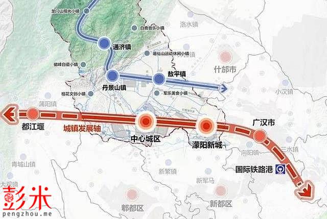 彭州规划建设2条轨道交通线路,濛阳或为彭州第一个开通市域铁路的地方-彭米网